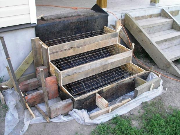 Крыльцо своими руками из бетона - описание каждого этапа работ