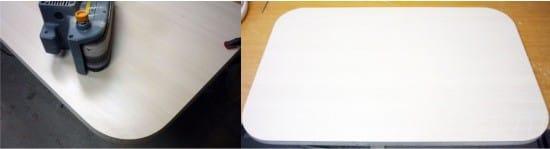 закругление углов кухонного стола