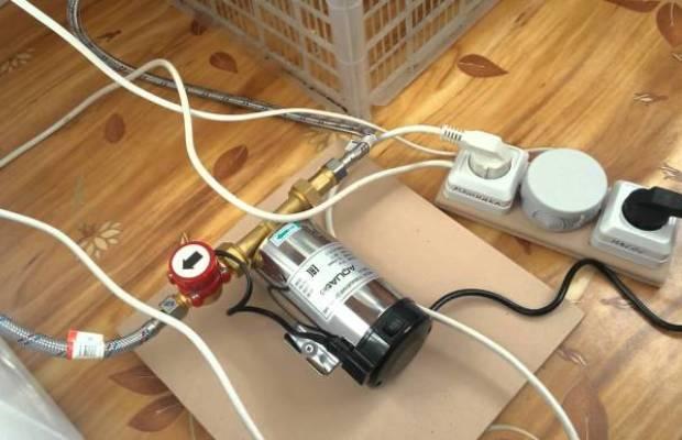 Для подключения машинки-автомат в частном доме будет достаточно самого простого напорного насоса