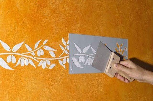 Если же использовать тонкую шпатлевку, орнамент приобретет рельефность
