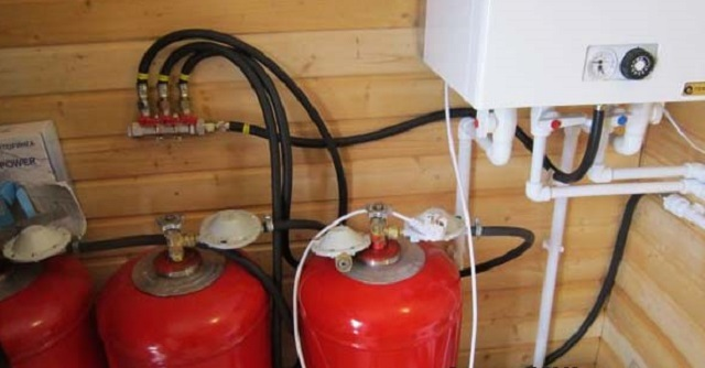 Система отопления сжиженным газом – котел может питаться от стандартных баллонов.