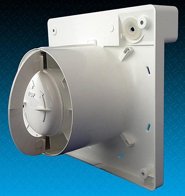 Вентилятор со встроенным обратным клапаном-«бабочкой», имеющим створки в виде полуколец.