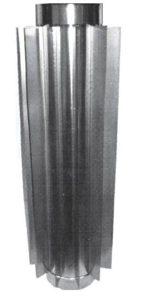 Оребрение для дымоходной трубы.