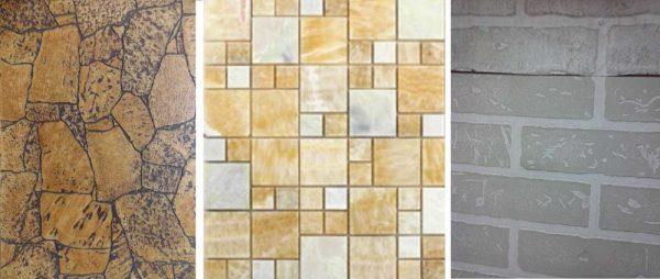 Чаще всего влагостойкие панели для ванной оформлены под плитку, но есть другие рисунки