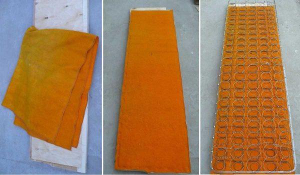 Основа под пружины - старенькое флисовое одеяло