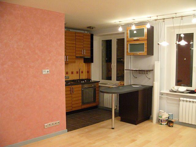 Кухня, объединенная с гостиной в общее помещение - столовую