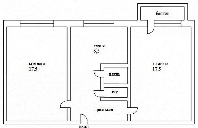 Двухкомнатная квартира-«распашонка»: возможности оптимизации полезной площади перепланировкой – не столь уж и широки