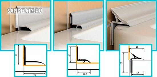 варианты установки плинтуса для ванной