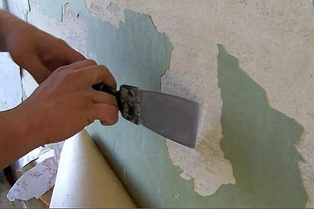 На стенах не должно оставаться никакой старой отделки