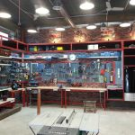 Полки и стеллажи для хранения инструментов и материалов