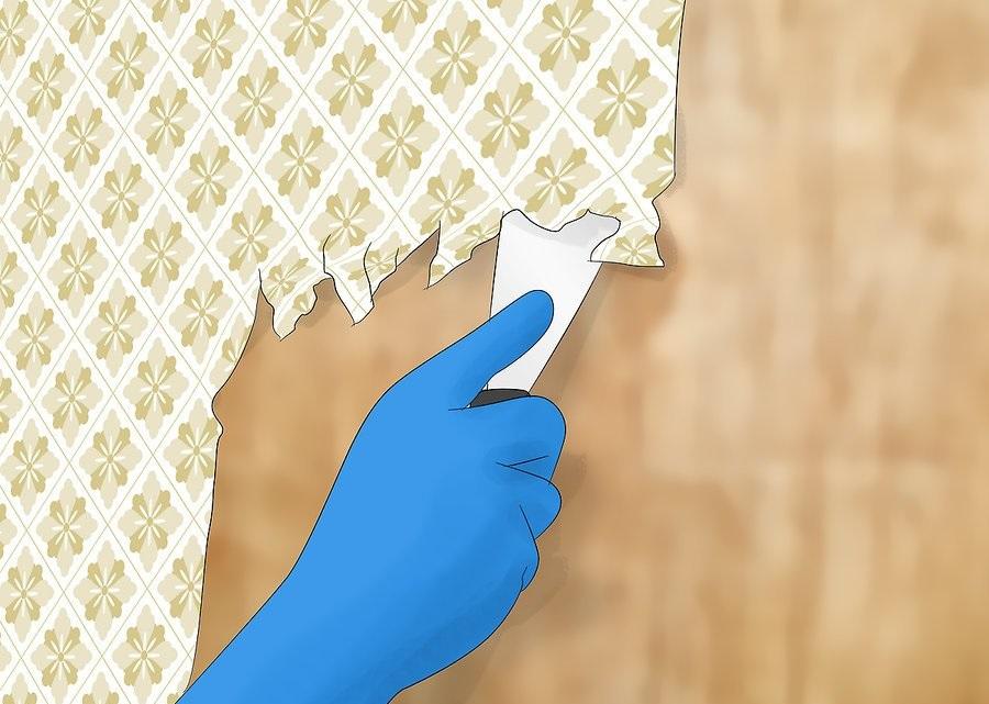 Потяните снизу вверх, поддев края скребком для бумаги