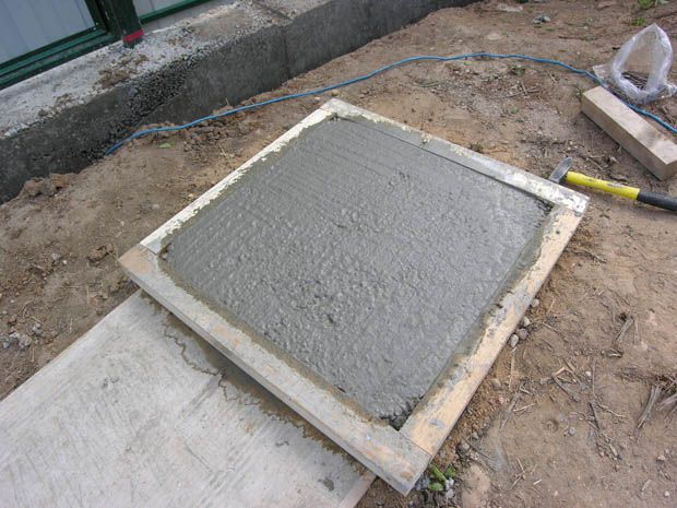 Простая квадратная форма, сбитая из брусков