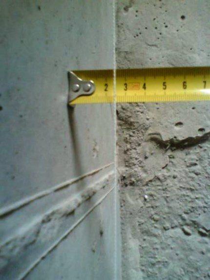 Проверяйте, чтобы отступ от стены был достаточным для расположения бруска
