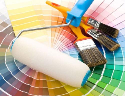 Различные цвета интерьерной краски для стен