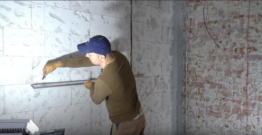 штукатурка стен без маяков лазерным уровнем