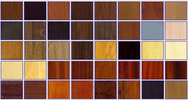 Разнообразие видов ламината