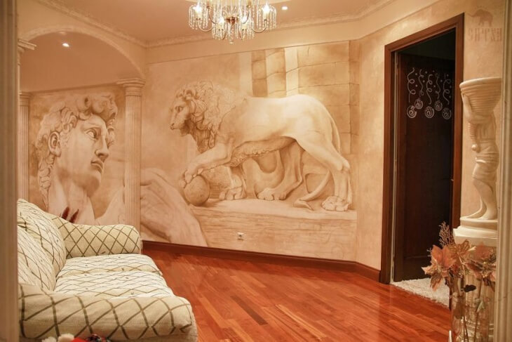 Рисунки на стенах своими руками