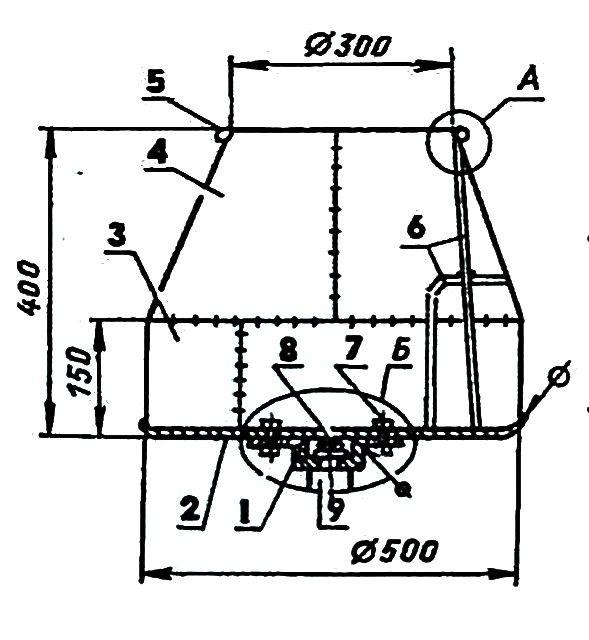 Общий чертеж смесительной бадьи