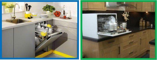 Посудомоечные машины встраиваемого и настольного типов
