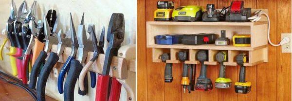 Хранение ручного инструмента в гараже
