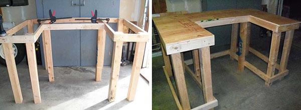 изготовление стола из дерева