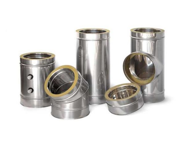 Сэндвич-труба - это два металлических цилиндра, пространство между которыми заполнено утеплителем