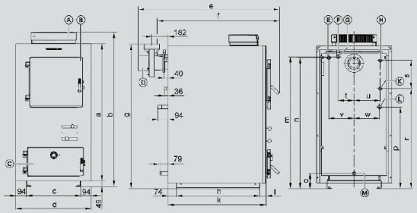Схематическое изображение самодельного пиролизного котла