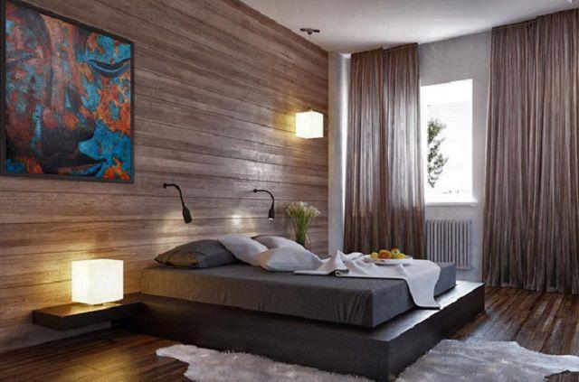 Обои из натурального шпона ценных пород древесины создают совершенно неповторимый вид интерьера