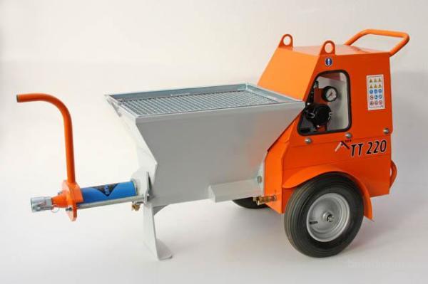 Штукатурный агрегат на базе полуприцепа.