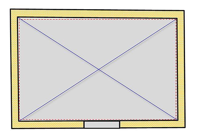 При оштукатуривании можно добиться и точной прямоугольной формы помещения, если это важно для хозяев.