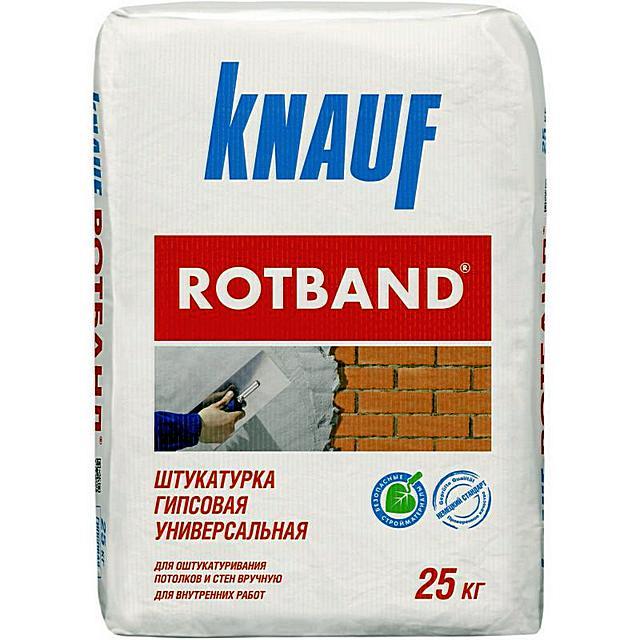 «Knauf Rotband» - типичный пример высококачественной гипсовой штукатурки для внутренних работ