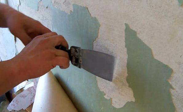 Со стен удаляется все, что плохо держится