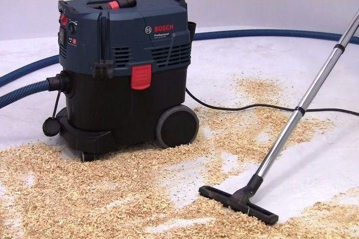 Уборка с использованием строительного пылесоса предельно упрощается