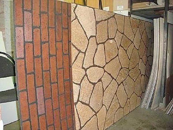 Листовые панели МДФ с имитацией кирпичной и каменной кладки