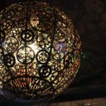 фото светильника из металлических шестеренок