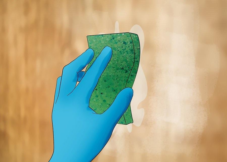 Удалите клей, пока вода не остыла