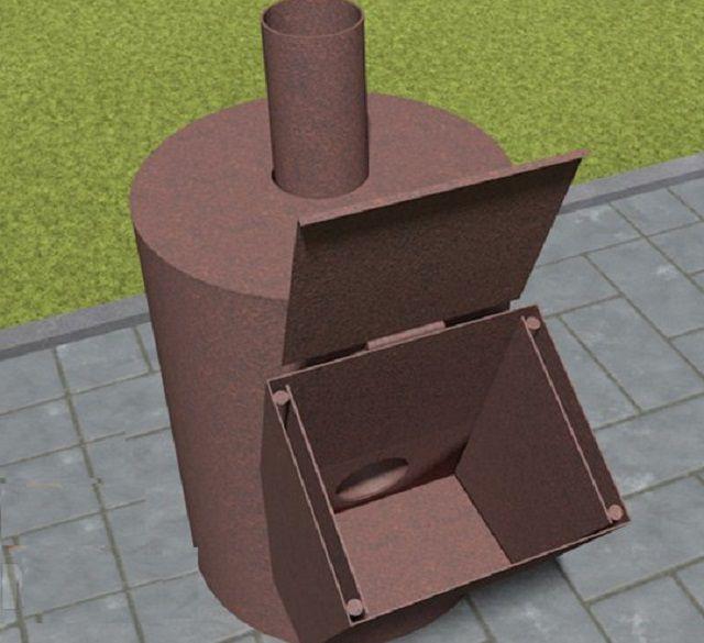 Более совершенная конструкция ракетной печи