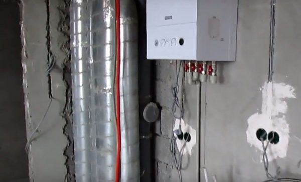 Установленный электрический котел