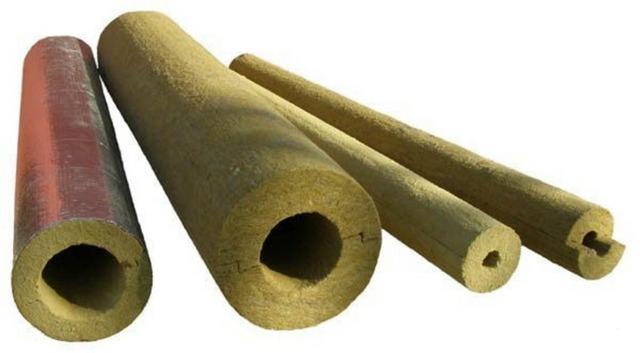 Полуцилиндры («скорлупа») из базальтовой ваты для утепления трубопроводов. Может быть с фольгированным или полимерным покрытием или без него.