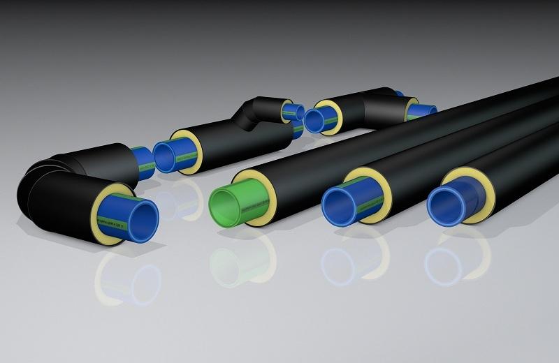 Полимерные трубы в термоизоляции из пенополиуретана