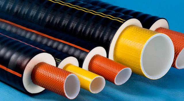 Трубы с полужёсткой пенополиуретановой термоизоляцией и внешней защитной полиэтиленовой оболочкой «Изопрофлекс».