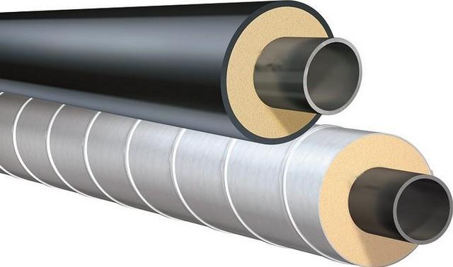 Как правило, утеплитель на трубах для подземной или открытой уличной прокладки закрывается защитным кожухом (оболочкой). Для подземных выбирается полимерное покрытие, для открытых – металлическое.
