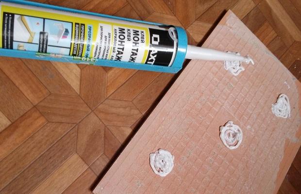Жидкие гвозди для приклеивания плитки
