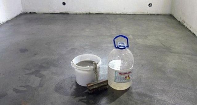 Гидроизоляция пола жидким стеклом.