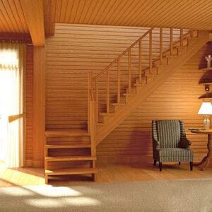 Чем хороша деревянная лестница?